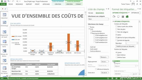 Afficher le rapport de vue d'ensemble des coûts des ressources