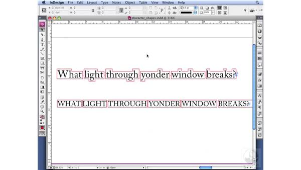 Using the ALL CAPS feature: InDesign CS3 Professional Typography