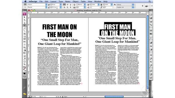 Leading headlines: InDesign CS3 Professional Typography