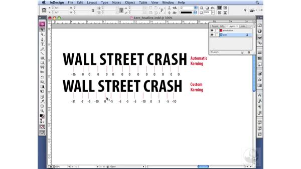 Kerning a headline: InDesign CS3 Professional Typography