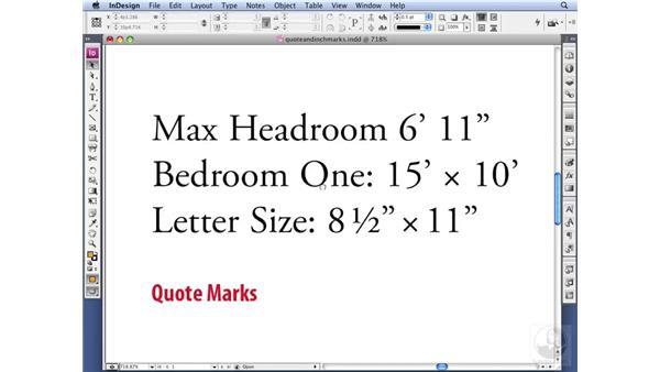 Using typographer's quotes: InDesign CS3 Professional Typography