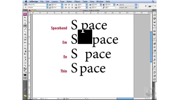 Spacing characters: InDesign CS3 Professional Typography