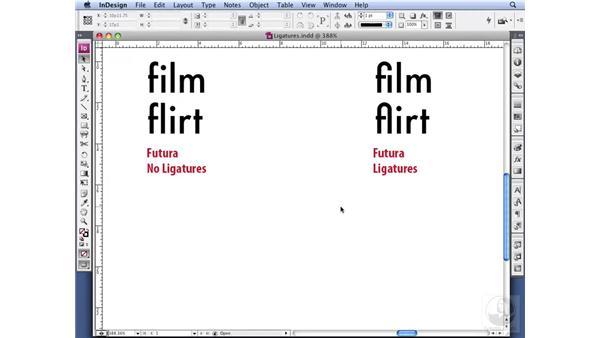 Understanding ligatures: InDesign CS3 Professional Typography