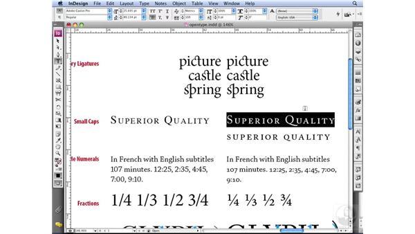 Understanding small caps: InDesign CS3 Professional Typography