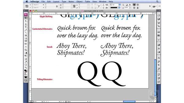 Understanding other OpenType features: InDesign CS3 Professional Typography