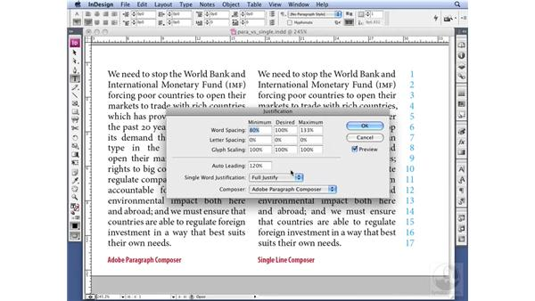 Using Adobe Paragraph Composer: InDesign CS3 Professional Typography