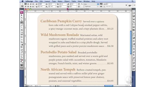 Using last-line indents: InDesign CS3 Professional Typography