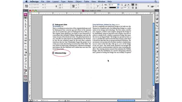 Defining Keep options: InDesign CS3 Professional Typography