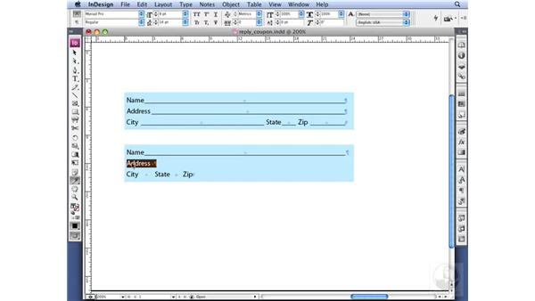 Creating a Reply Coupon: InDesign CS3 Professional Typography