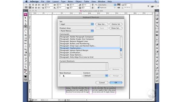 Setting Hyphenation options: InDesign CS3 Professional Typography