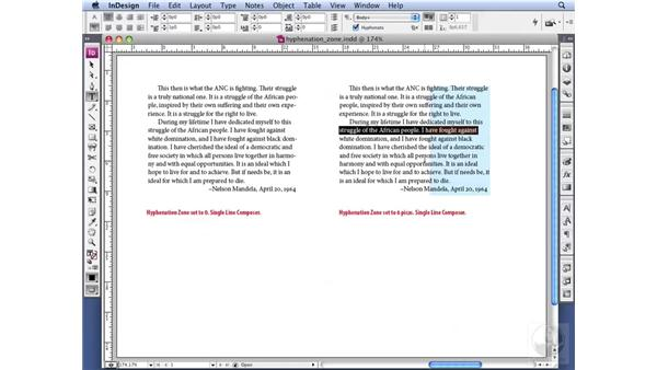 Understanding the Hyphenation Zone: InDesign CS3 Professional Typography