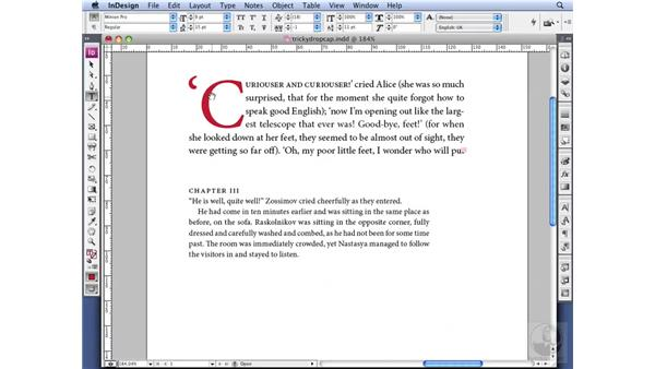 Navigating tricky drop caps: InDesign CS3 Professional Typography