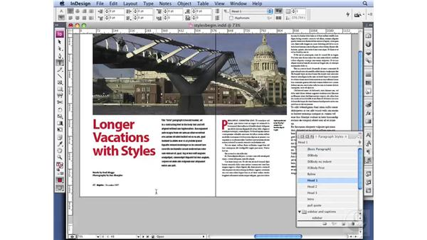 Applying Paragraph Styles: InDesign CS3 Professional Typography