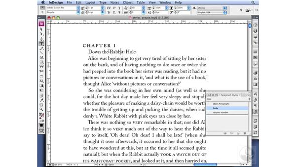 Creating Styles: InDesign CS3 Professional Typography