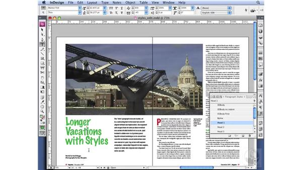 Editing and redefining Styles: InDesign CS3 Professional Typography