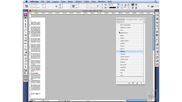 Organizing Styles: InDesign CS3 Professional Typography