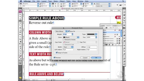 Using Paragraph Rules creatively: InDesign CS3 Professional Typography