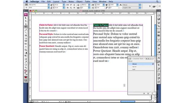Creating a run-in head: InDesign CS3 Professional Typography