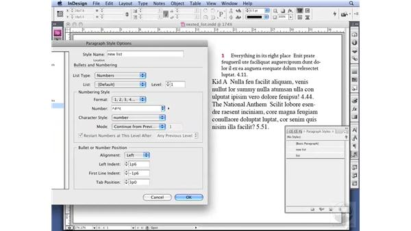 Creating complex Nested Styles: InDesign CS3 Professional Typography