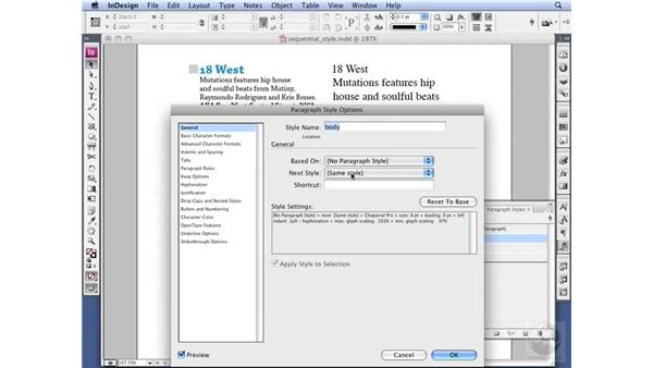 Using Sequential Styles: InDesign CS3 Professional Typography