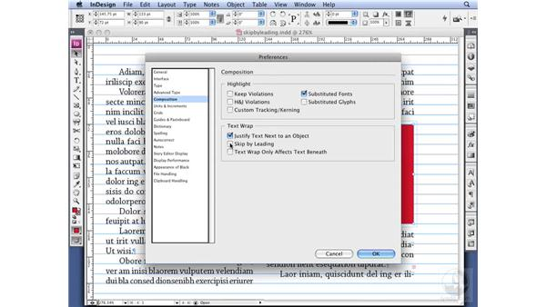 Setting Text Wrap preferences: InDesign CS3 Professional Typography