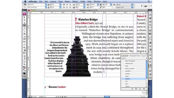 Aligning the first line only: InDesign CS3 Professional Typography