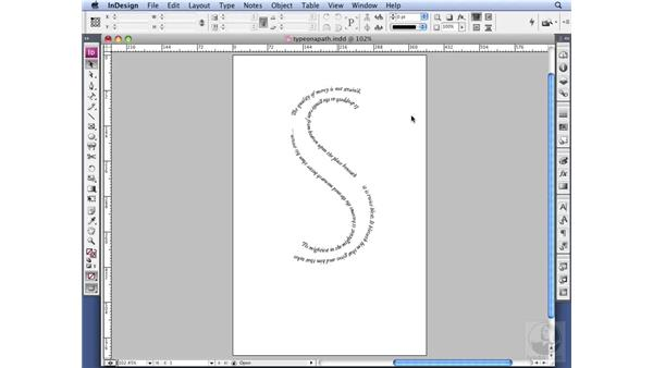 Typing on a path: InDesign CS3 Professional Typography