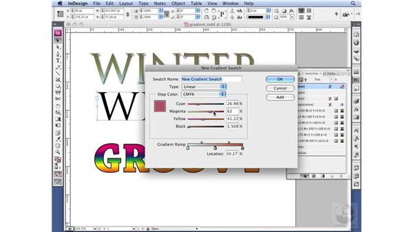 Understanding offset outlines and gradients: InDesign CS3 Professional Typography