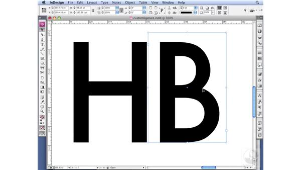 Creating a custom ligature: InDesign CS3 Professional Typography