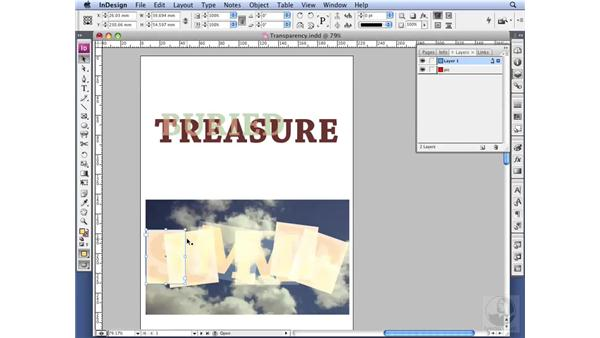Using type and transparency effects: InDesign CS3 Professional Typography
