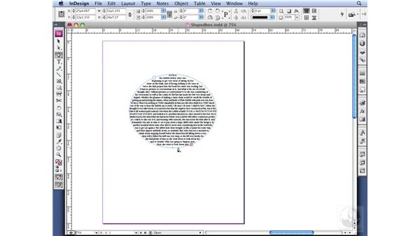 Using custom-shaped text frames: InDesign CS3 Professional Typography