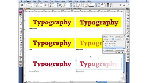 Using effects on type: InDesign CS3 Professional Typography