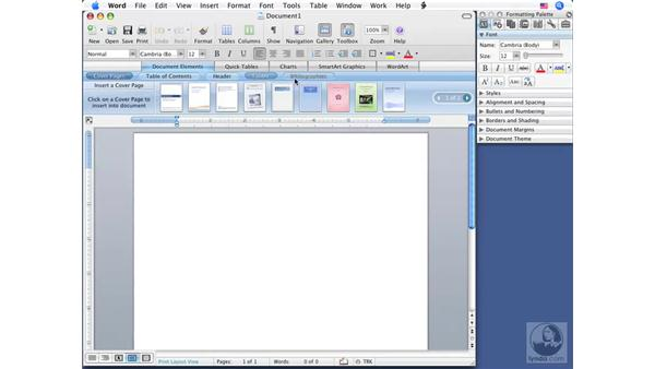 Understanding the interface: Word 2008 for Mac Essential Training