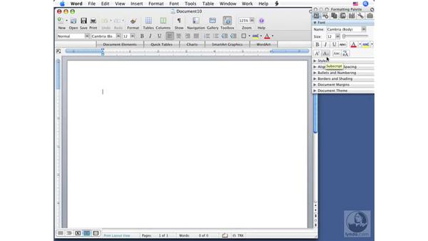 Creating new blank documents: Word 2008 for Mac Essential Training