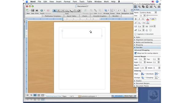 Creating new Publishing documents: Word 2008 for Mac Essential Training