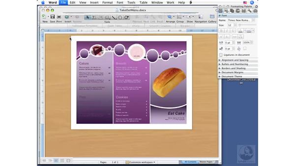 Working with templates: Word 2008 for Mac Essential Training