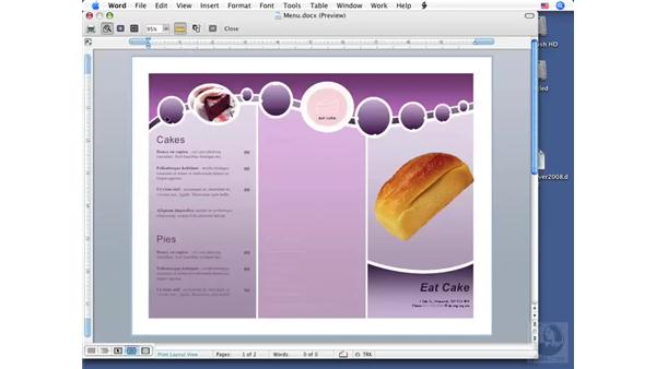 Using Print Preview: Word 2008 for Mac Essential Training
