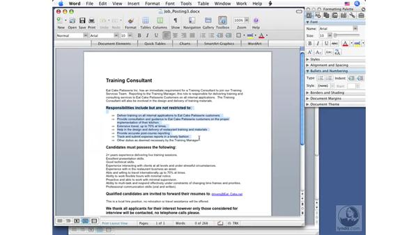 Copying, pasting, and moving text: Word 2008 for Mac Essential Training