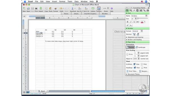 Creating charts: Word 2008 for Mac Essential Training