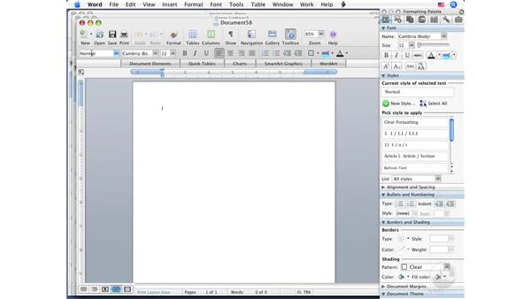 Creating envelopes: Word 2008 for Mac Essential Training