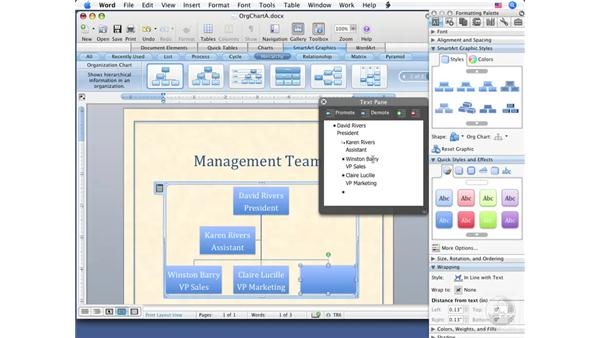 Working with SmartArt: Word 2008 for Mac Essential Training