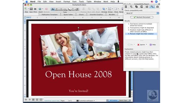 Checking compatibility: Word 2008 for Mac Essential Training