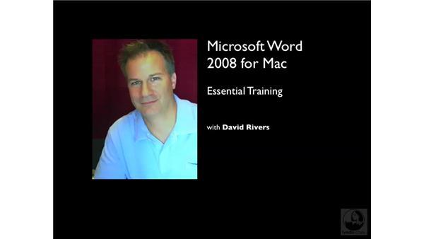 Goodbye: Word 2008 for Mac Essential Training