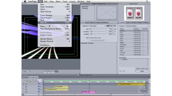 Exporting from LiveType: Compressor 3 Essential Training