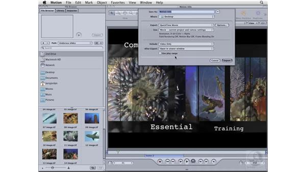Exporting from Motion: Compressor 3 Essential Training