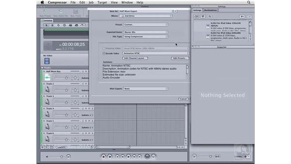 Exporting from Soundtrack Pro: Compressor 3 Essential Training
