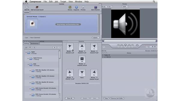 Working with Surround Sound: Compressor 3 Essential Training