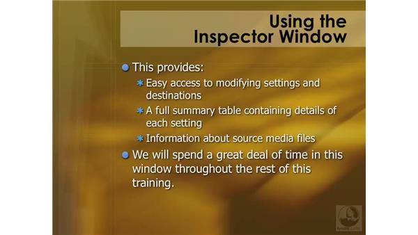 Using the Inspector window: Compressor 3 Essential Training