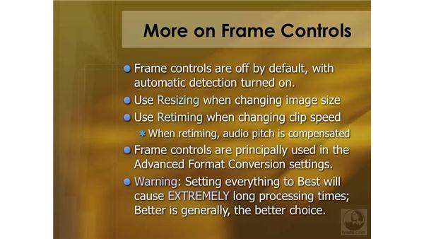 Using the Frame controls: Compressor 3 Essential Training
