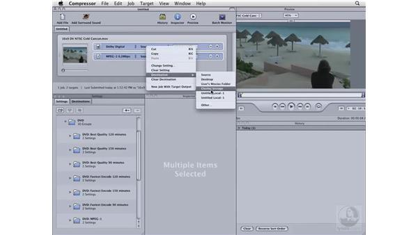 Compressing NTSC 16x9 DV for DVD: Compressor 3 Essential Training